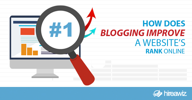 How Does Blogging Improve a Website's Rank Online