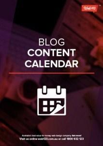Blog Content Calendar