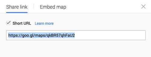 Share Google Map