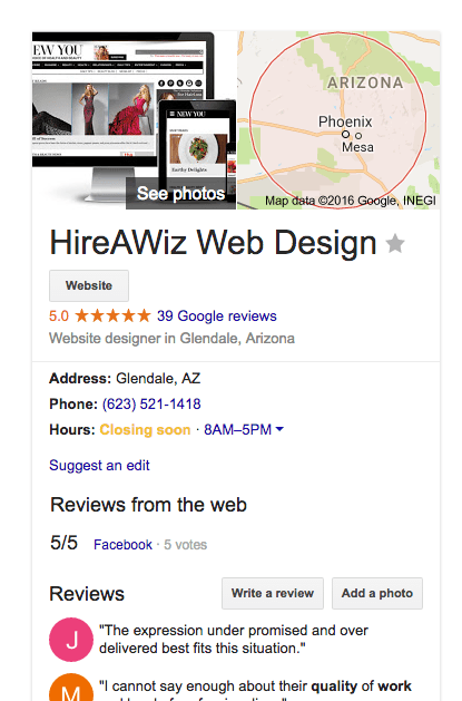 Hireawiz Web Design Location